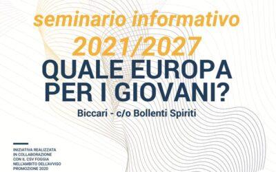 Moby Dick apre a Biccari l'Hub EU Academy con un seminario sull'Europa